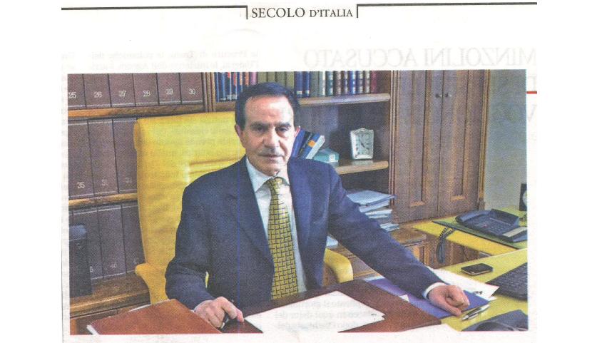 Il Secolo d'Italia – Intervista a Francesco Dello Russo