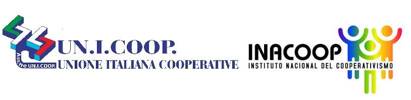 loghi di INACOOP e UNICOOP firmata l'intesa per l'attuazione di poliche a favore della cooperazione internazionale.