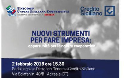 """Convegno """"Nuovi strumenti per fare impresa"""" UN.I.COOP. Sicilia / Credito Siciliano"""