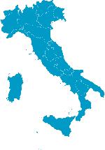 cartina dell'Italia ed elenco delle sedi regionali dell'Unicoop